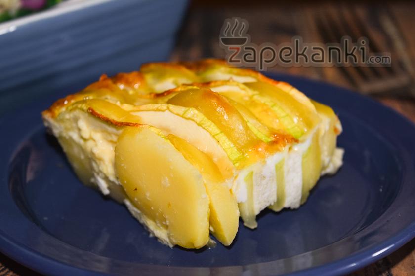 вкусная картофельно-кабачковая запеканка