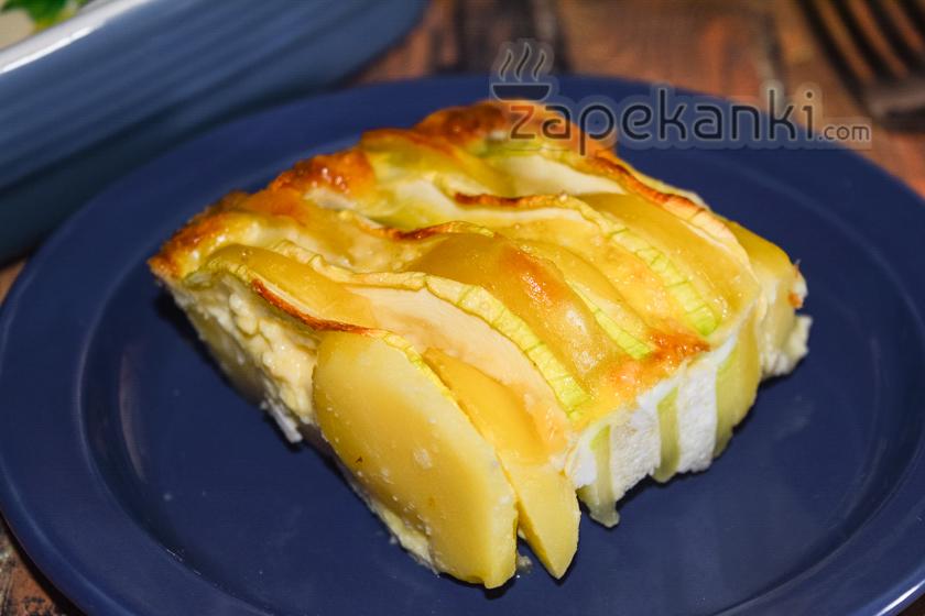 Картофельно кабачковая запеканка быстрый рецепт