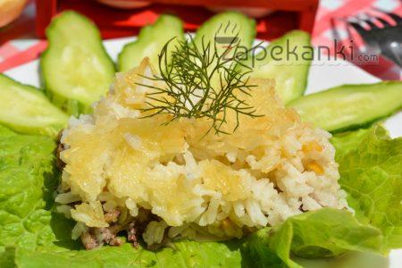 запеканка рисовая с мясом в духовке