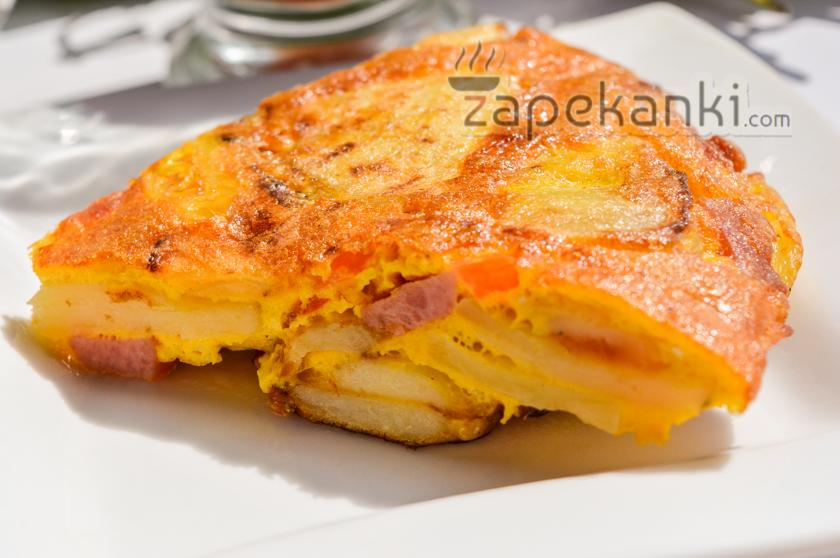 Вкусная картофельная запеканка на сковороде без духовки