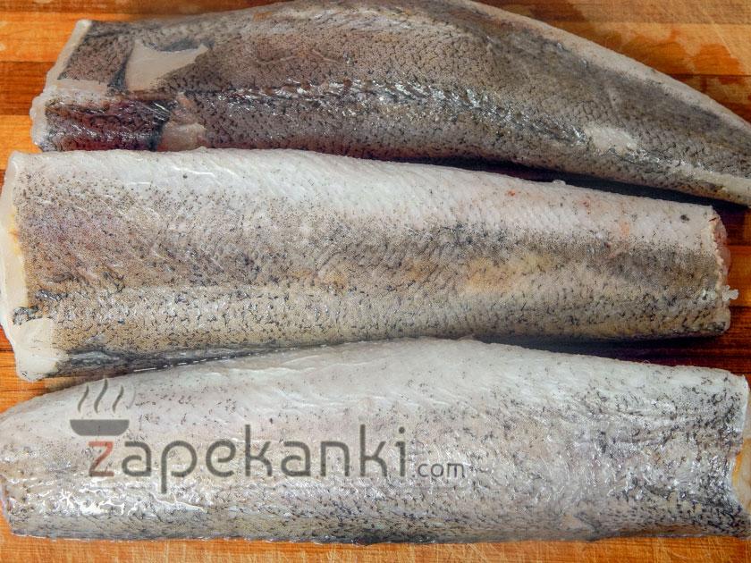 тушки рыбы для запеканки