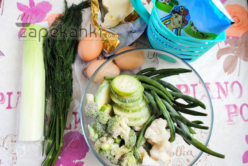 ингредиеты для запеканки