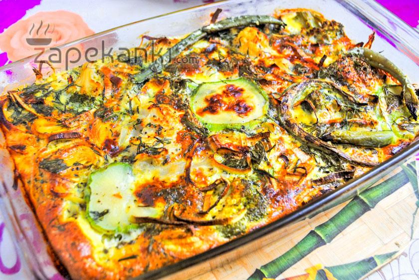 вкусная запеканка с брокколи и цветной капустой
