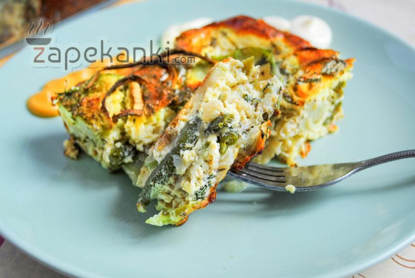 овощная запеканка с брокколи рецепт с фото