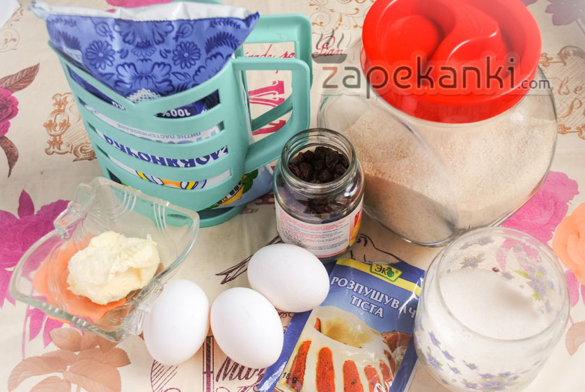 ингредиенты для манника на молоке