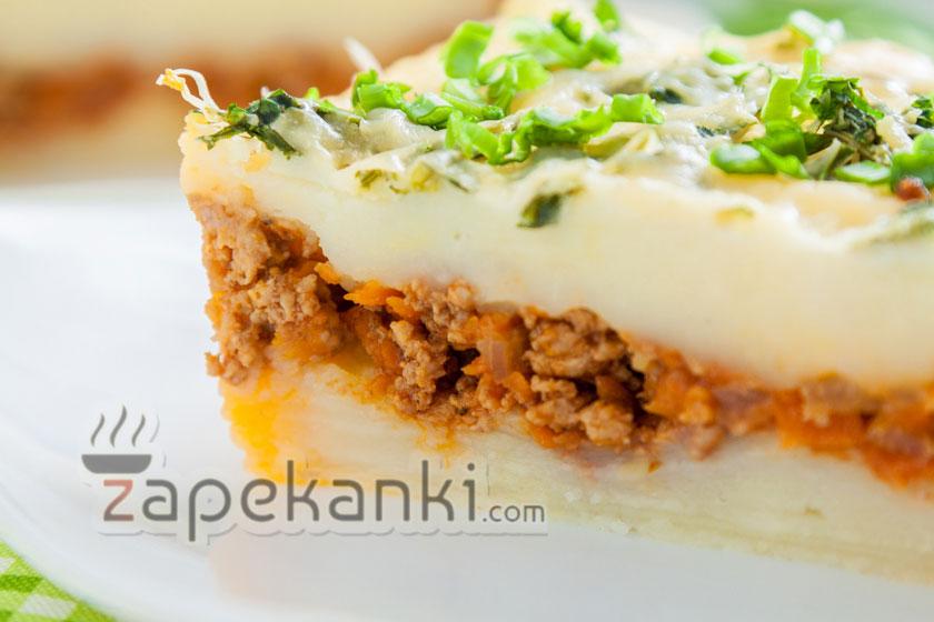 картофельно-мясная запеканка пошагово