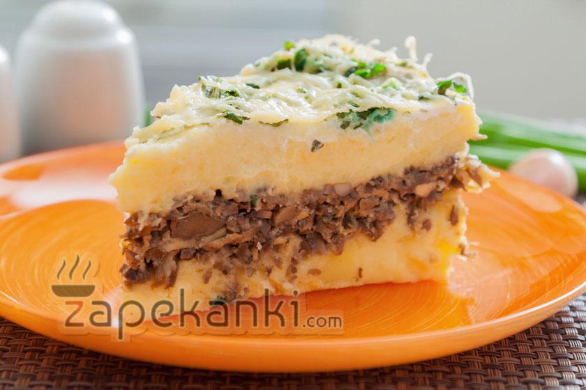 Картофельно-грибная запеканка в духовке рецепт с фото