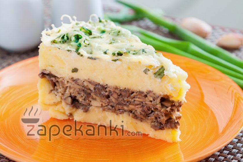 Вкусная запеканка с картошкой и грибами в духовке, рецепт с фото