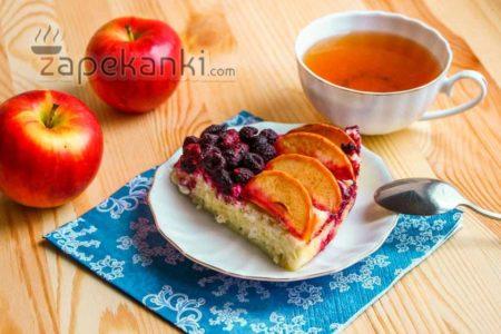 летняя запеканка с фруктами