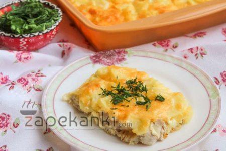 Запеканка картофельная с филе курицы в духовке