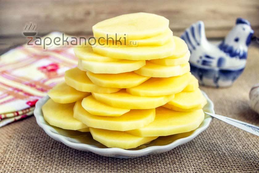 кружки картофеля