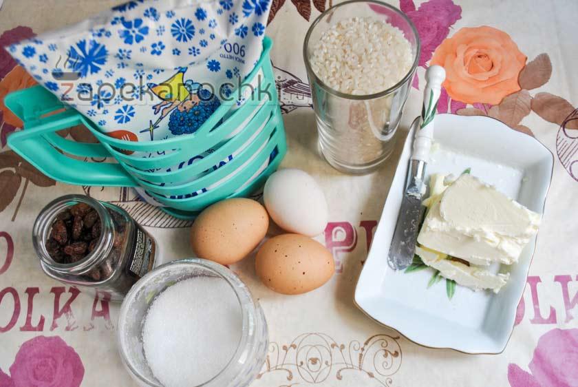 ингредиенты для пудинга